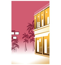 Tropical Street Scene vector image vector image