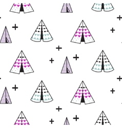 Wigwam kid seamless pattern vector