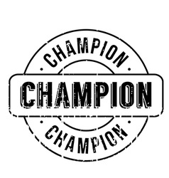 Champion rubber stamp vector