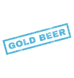 Gold Beer Rubber Stamp vector image