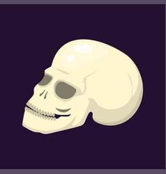 Style skull face halloween horror style tattoo vector