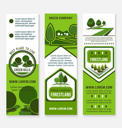 Eco green business banner template with tree vector