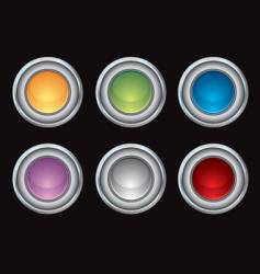 Chrome glossy internet buttons vector