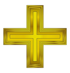 Religious gold cross vector