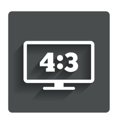 Aspect ratio 43 widescreen tv monitor symbol vector
