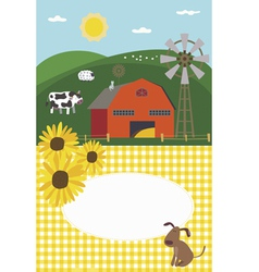 Invitation in rural style vector image