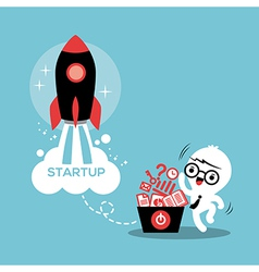 Start up entrepreneur business success vector