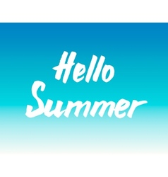 Summer calligraphical design element for poster or vector