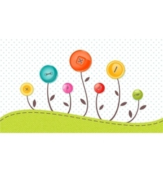 Greeting card with cute flowers perfect vector
