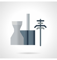 Power station flat icon vector