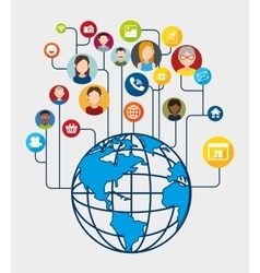 Social network and media vector