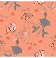 Seamless pattern with pink rose24 vector
