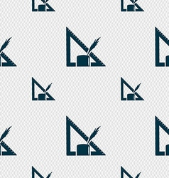 Pencil and ruler icon sign seamless pattern with vector