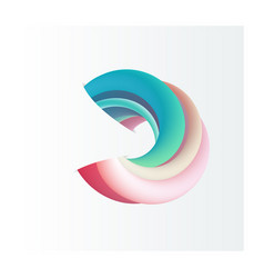 Abstract 3d shape vector