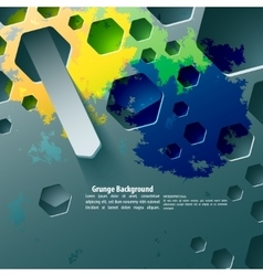 Abstract volume paper graphics template vector