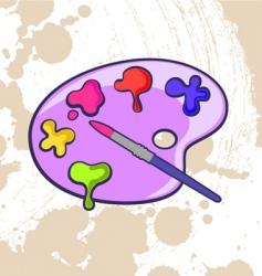 Artist palette vector