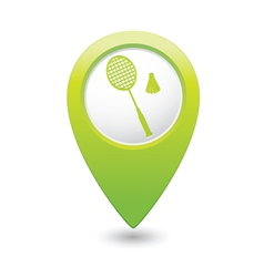 badminton GREEN map pointer vector image vector image