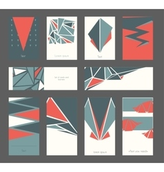 Beautiful set of business cards and banners based vector