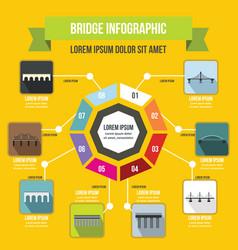 Bridge infographic concept flat style vector