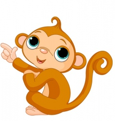 cartoon baby monkey vector image