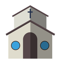 cartoon church facade vector image vector image