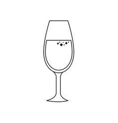 champagne glass icon vector image vector image