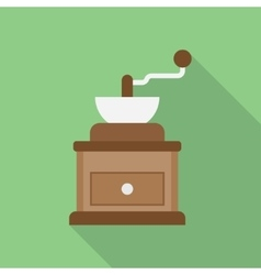classic coffee grinder vector image vector image