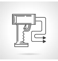 Contour icon for stun gun vector
