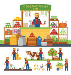 farming infographic elements cultivation of vector image vector image
