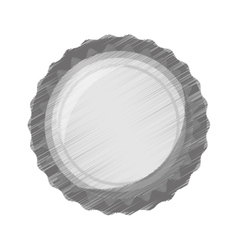 Gray drawing bottle cap icon vector