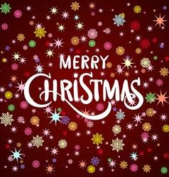 Merry christmas gold glittering lettering design vector