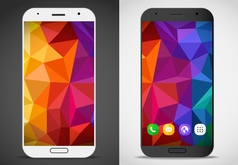 Modern smartphones with abstract mockup layout vector image