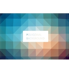 Polygonal background mockup vector