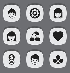 set of 9 editable excitement icons includes vector image