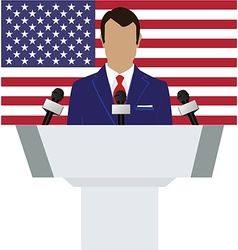 Speaker american flag vector image