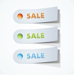 three blank sales tags vector image
