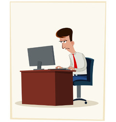 tired worker vector image vector image