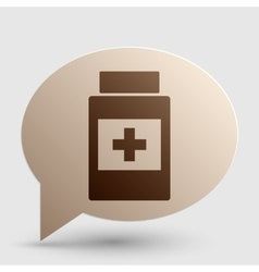 Medical container sign brown gradient icon on vector