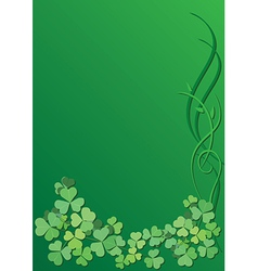 Green floral background for saint patrick day vector