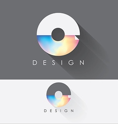 Letter o colorful design element for business vector