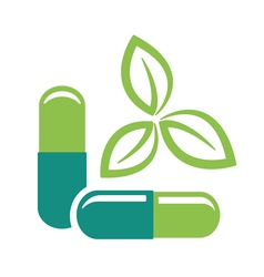 Herbal pills vector