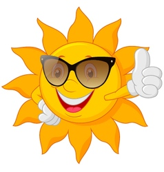 Cartoon cute sun vector
