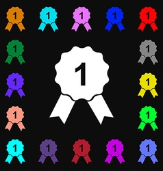 Award medal icon sign lots of colorful symbols for vector
