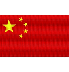 China flag embroidery design pattern vector