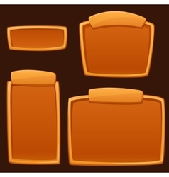Set of cartoon empty boards vector