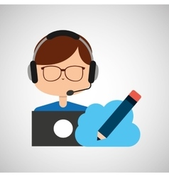 man working icon vector image