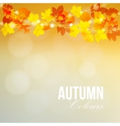 Autumn fall card banner garden party decoration vector