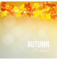 Autumn fall card banner Garden party decoration vector image vector image