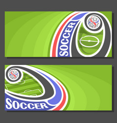 Banners for soccer vector
