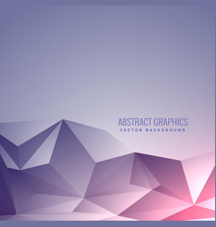 Beautiful low poly minimal background with vector